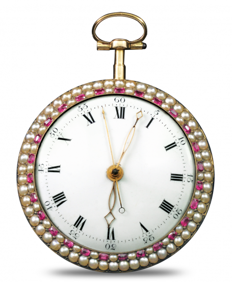 Paillonnée Enameling Pocket Watch