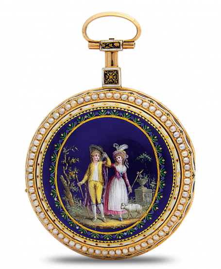 "Pocket Watch ""Couple and sheep"""